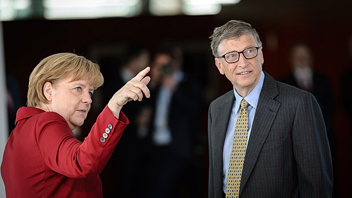 Angela Merkel and Bill Gates in Berlin, November 2013