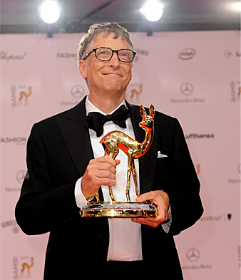 Bill Gates accepting Bambi award in Berlin, November 2013