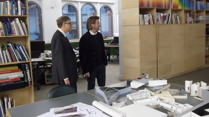 Bill Gates and Olafur Eliasson, November 2013