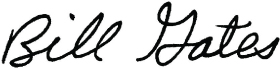 Bill's Signature | GatesNotes.com The Blog of Bill Gates