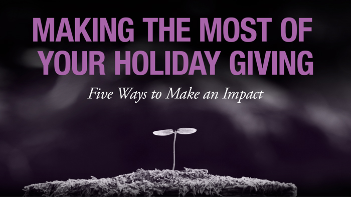 Making the Most of you Holiday Giving