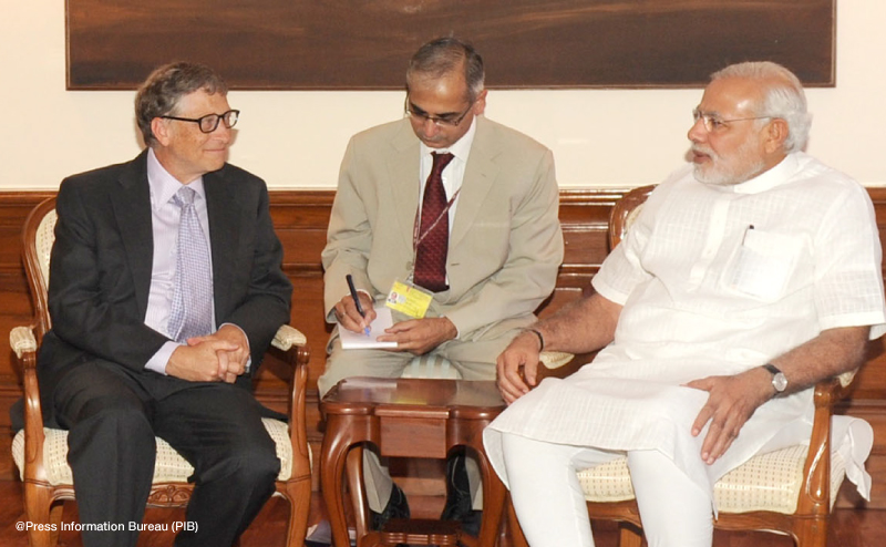 Bill Gates Meets with Indian Prime Minister Narendra Modi. September, 2014 | GatesNotes.com The Blog of Bill Gates