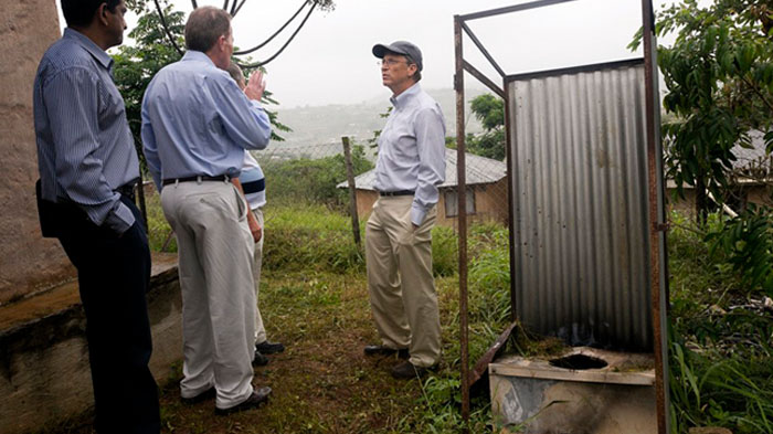 Bill Gates with Neal Macleod, head of Durban Water and Sanitation