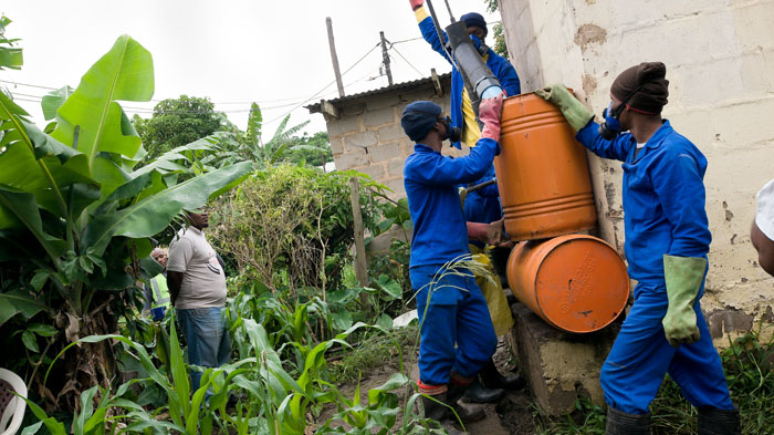Emptying latrines in Durban