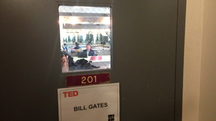 Bill Gates backstage at TED