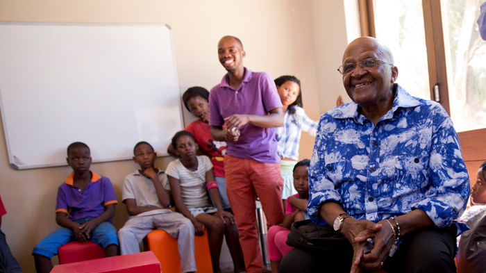 Desmond Tutu at his Youth Centre