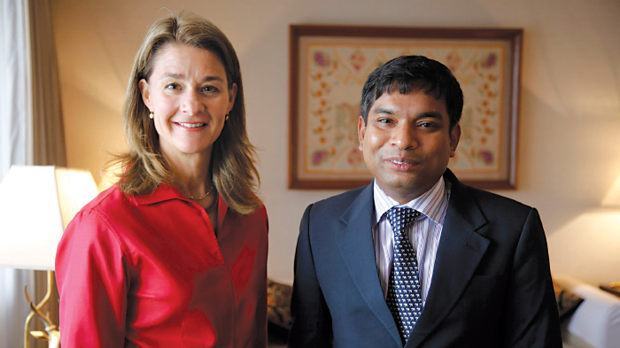 Melinda Gates and Dr. Asm Amjad Hossain | GatesNotes.com The Blog of Bill Gates