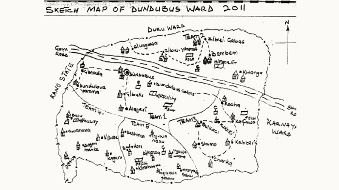 Dundubus Hand Drawn Map