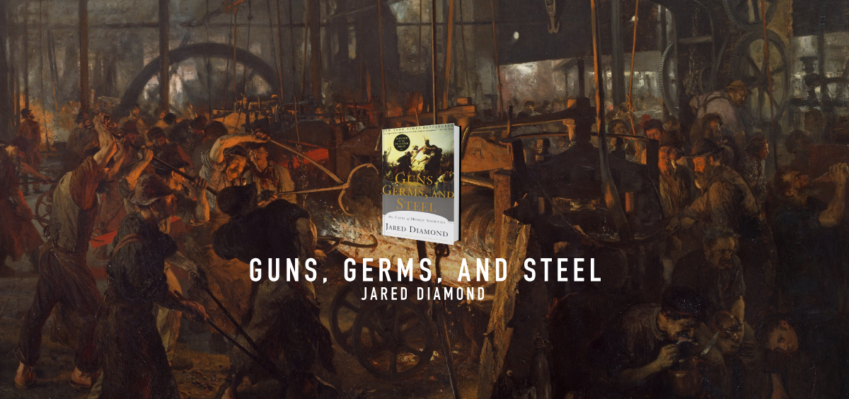 essays on guns germs and steel Guns, germs, and steel even though africa had a massive time advantage america had a much greater environmental diversity, so the native american's would have a advantage over thee.