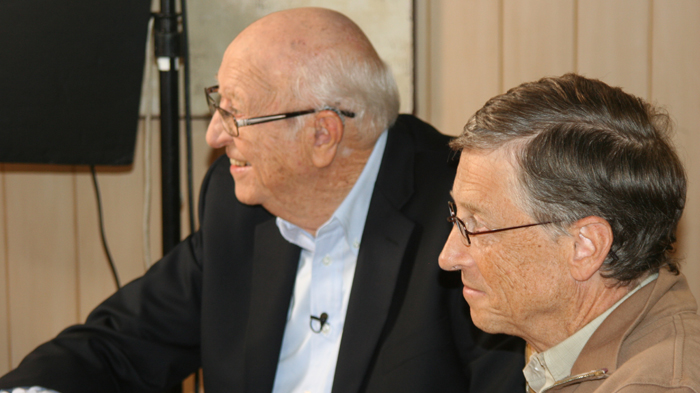 Bill Gates: With my dad, talking to Charlie Rose