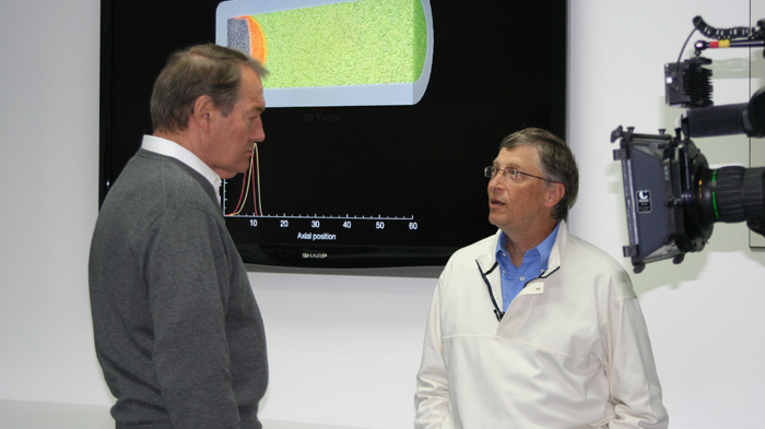 Bill Gates: With Charlie Rose at IV labs.