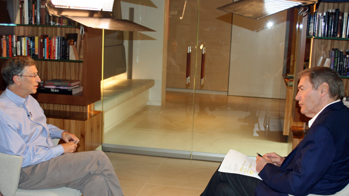 Bill Gates: With Charlie Rose at my office.