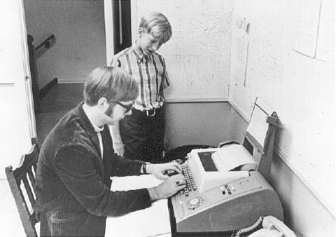 Paul Allen and a young Bill Gates programming early computers | GatesNotes.com The Blog of Bill Gates