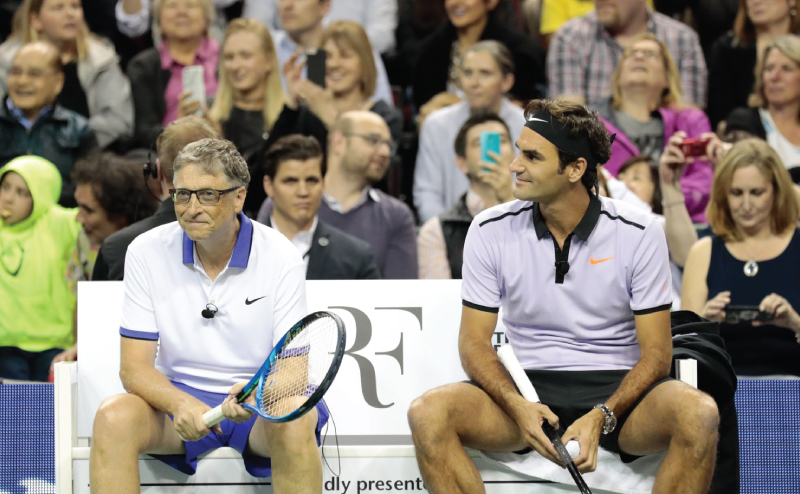 Playing tennis with Roger Federer   Bill Gates