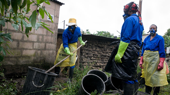 Emptying pit latrines in Durban