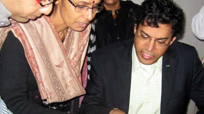 Atul Gawande and an Auxiliary Nursing Midwife (ANM)