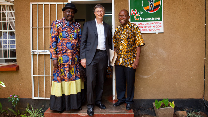 Bill Gates with Health Hero Chief Jonathan Eshiloni Mumena in Zambia