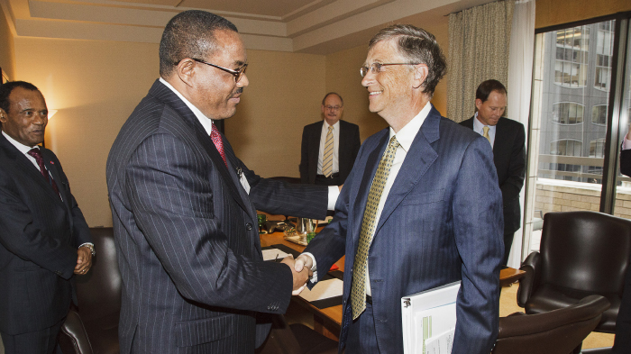 Bill Gates and the Prime Minister of Ethiopia, Hailemariam Desalegn
