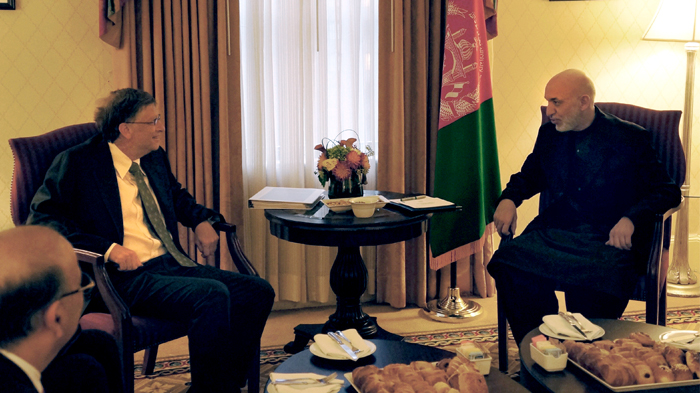Bill and President Karzai