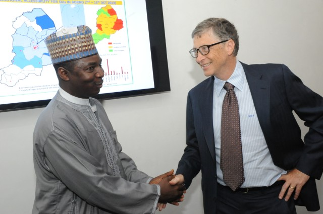 Bill Gates with Dr. Ado Mohammad. November, 2013.