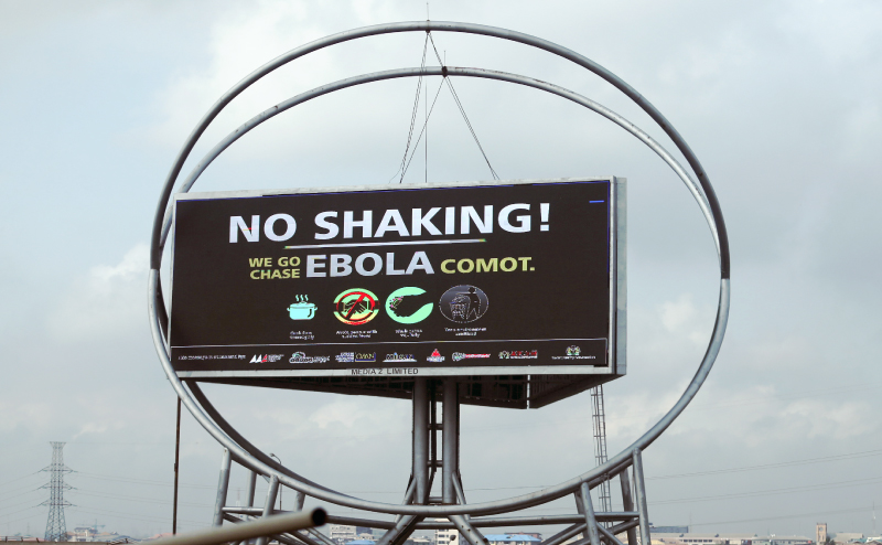 Billboard Advises for Hygiene to Prevent Ebola Transmission, Nigeria, 2014 | GatesNotes.com The Blog of Bill Gates